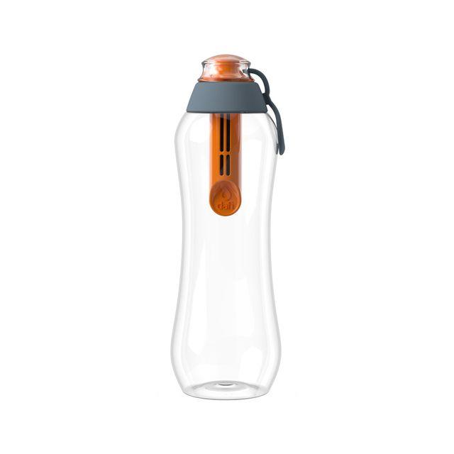 Butelka filtrująca DAFI 0,5L +1 filtr w zestawie - Limitowana Edycja (stal / pomarańcza)