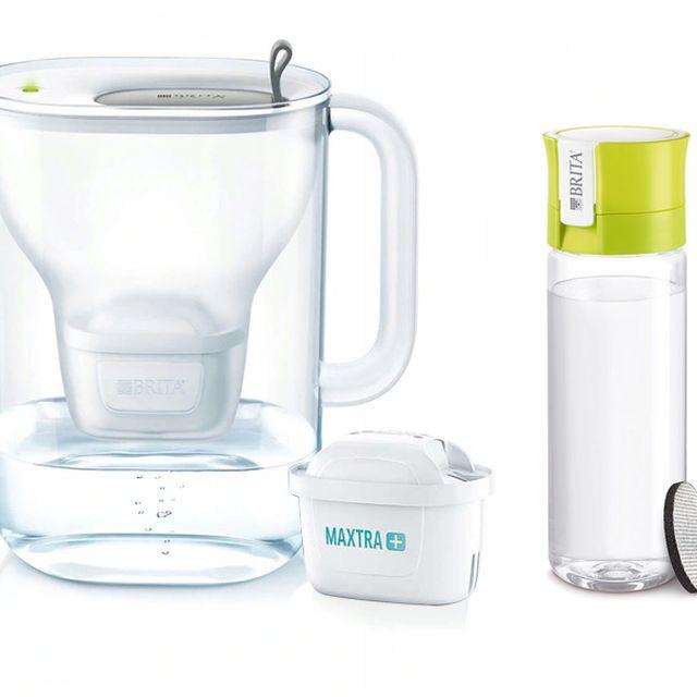 Dzbanek filtrujący Style XL (szary) +1 filtr Maxtra Plus Pure Performance +butelka Brita Vital 0,6L (limonka) Galaxy
