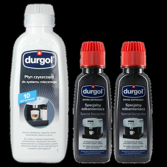 Zestaw do konserwacji ekspresu ciśnieniowego Durgol Milk Cleaner 500ml + Swiss Espresso Descaler 2x125ml