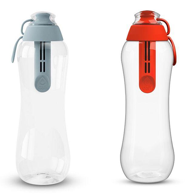 Zestaw butelek filtrujących DAFI 0,5L Makowy/Stalowy (2szt.)