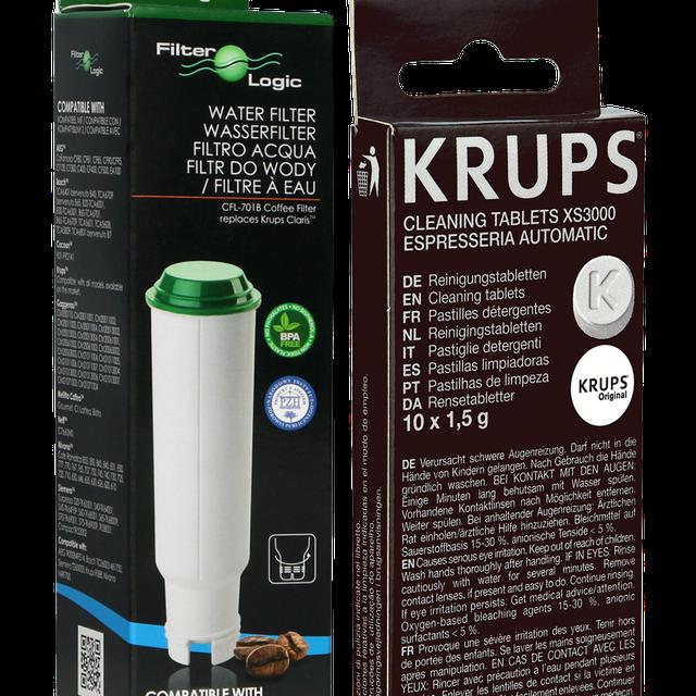 Zestaw do konserwacji ekspresu Krups (filtr Filter Logic CFL-701B + tabletki czyszczące XS3000)