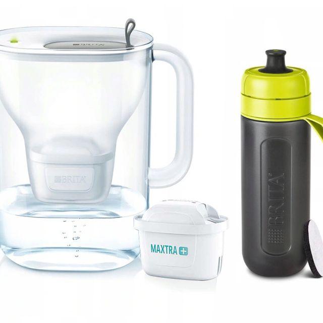 Dzbanek filtrujący Style XL (szary) +1 filtr Maxtra Plus Pure Performance +butelka Brita Active 0,6L (limonka) Galaxy
