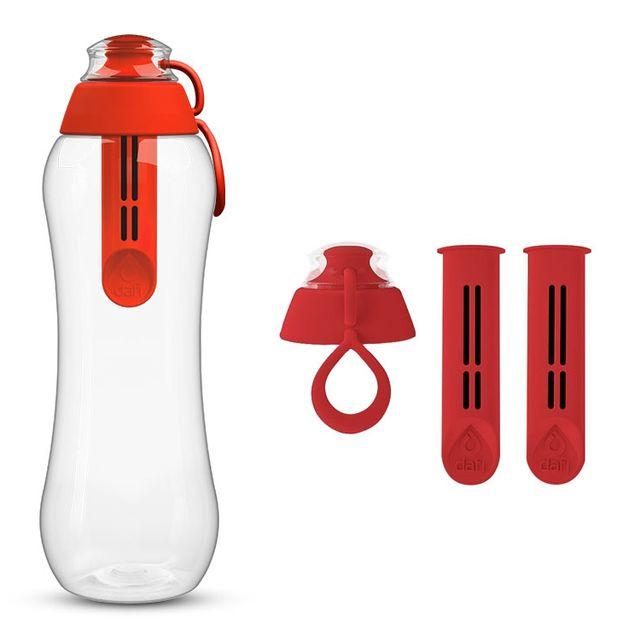 Butelka filtrująca DAFI 0,5L +3 filtry (czerwona)