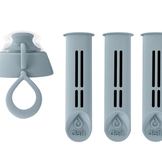 Filtr do butelki DAFI stalowy (3szt. + nakrętka)