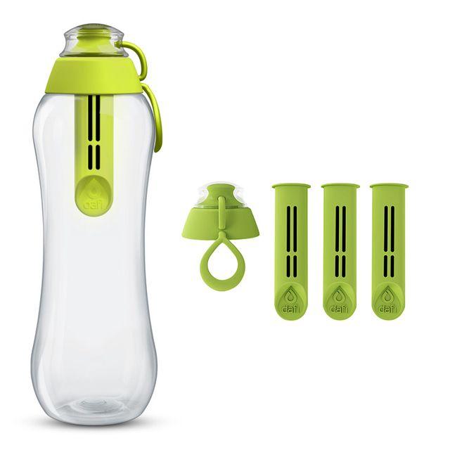 Butelka filtrująca DAFI 0,7L +4 filtry (zielona)