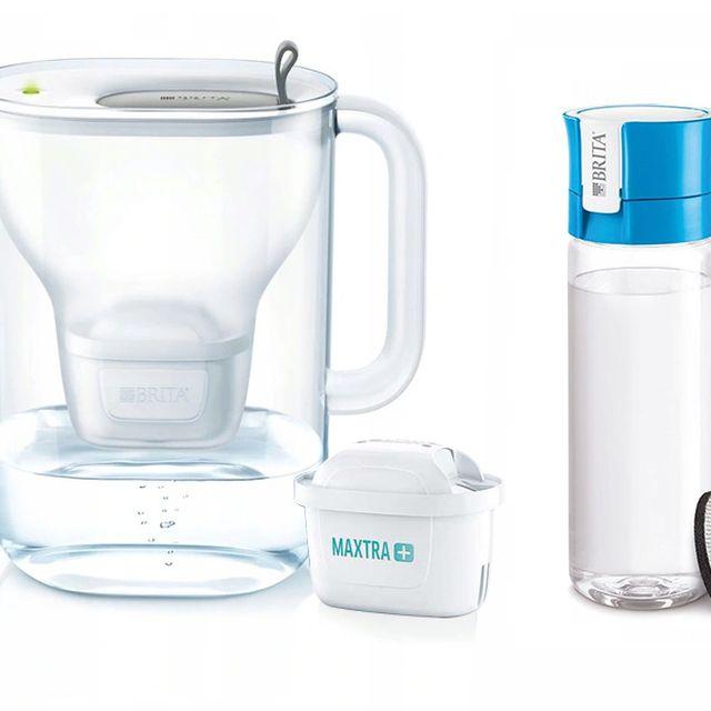 Dzbanek filtrujący Style XL (szary) +1 filtr Maxtra Plus Pure Performance +butelka Brita Vital 0,6L (niebieski) Galaxy