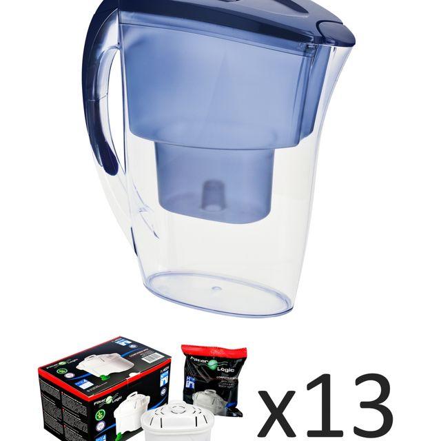 Dzbanek filtrujący Filter Logic FLJ-402 BLUE +13 wkładów FL-402