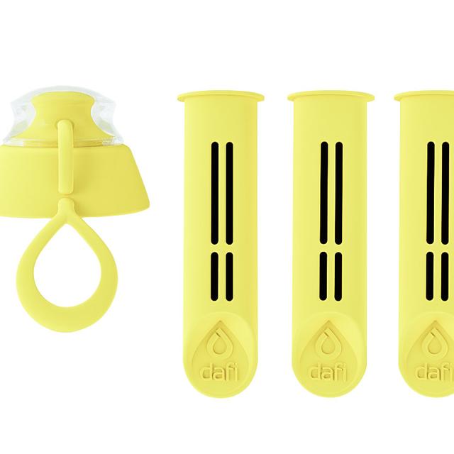 Filtr do butelki DAFI cytryna (3szt. + nakrętka)