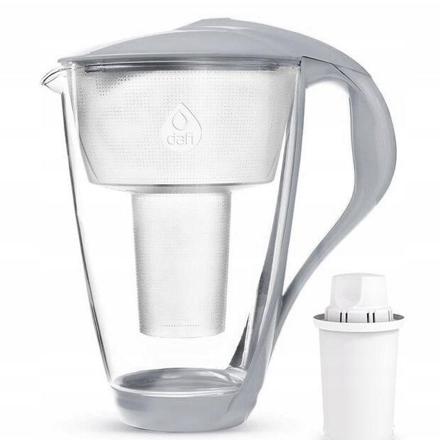 Dzbanek filtrujący szklany Dafi Crystal LED +1 filtr Classic (stalowy)