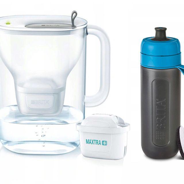 Dzbanek filtrujący Style XL (szary) +1 filtr Maxtra Plus Pure Performance +butelka Brita Active 0,6L (niebieski) Galaxy