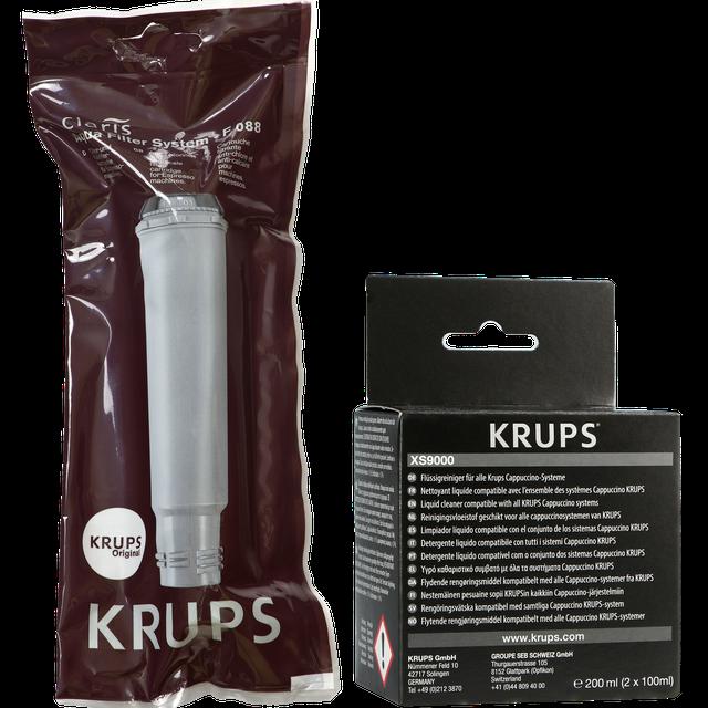 Zestaw do konserwacji ekspresu Krups (filtr F088 + środek do czyszczenia XS9000)