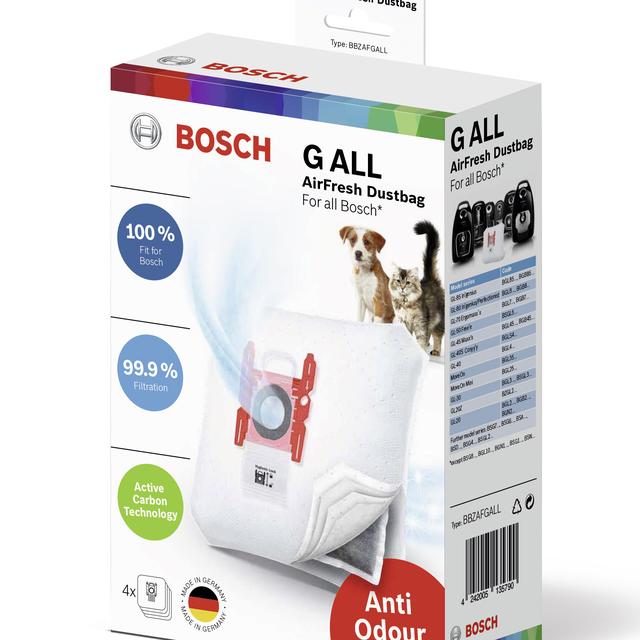 Worki do odkurzacza Bosch AirFresh BBZAFGALL (4 szt.) 17002915 TYP G