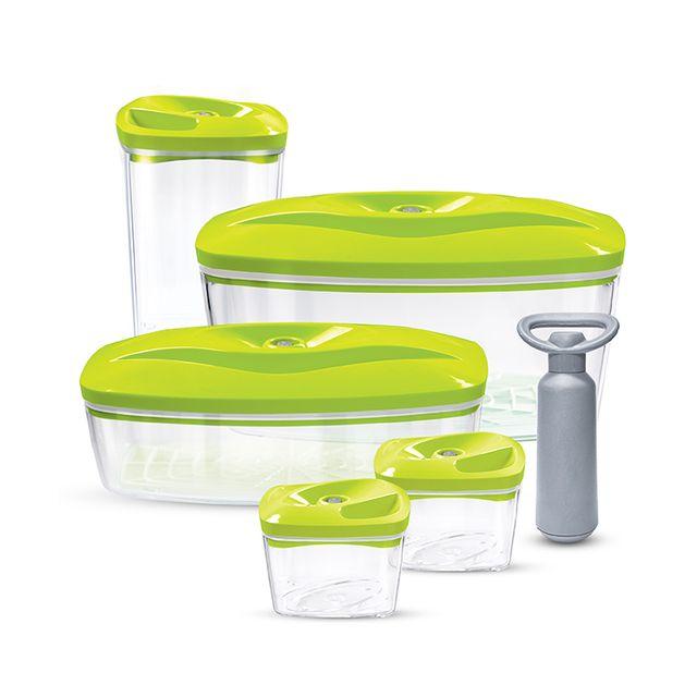 Zestaw pojemników prożniowych do przechowywania żywności DAFI SET5 (zielony)