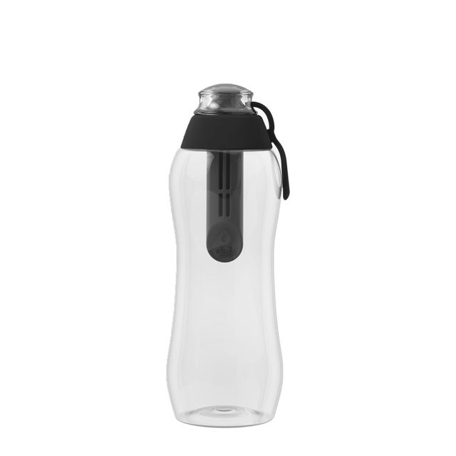 Butelka filtrująca DAFI 0,3L +1 filtr w zestawie (antracyt / czarna)