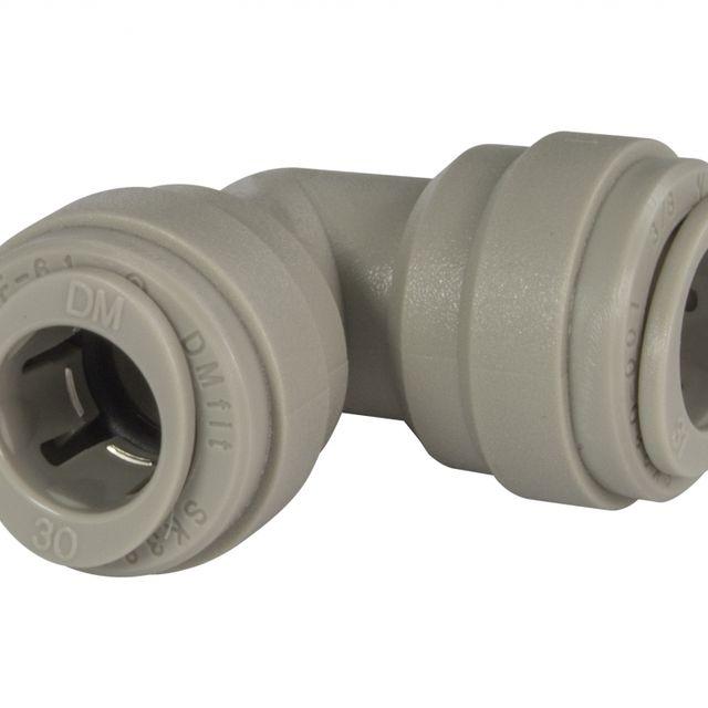 """Kolanko łączące wężyk DMfit AEU0606 (3/8"""" tube x 3/8"""" tube)"""
