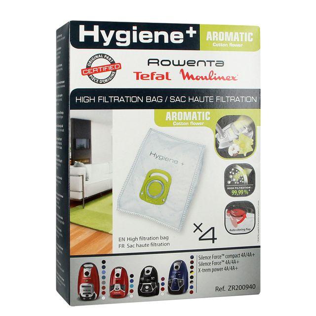 Worki do odkurzacza Rowenta ZR200940 Hygiene Plus + Aromatic Cotton Flower (4szt.)