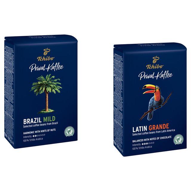 Kawa ziarnista Tchibo Privat Kaffee Brazil + Guatemala  2x500g