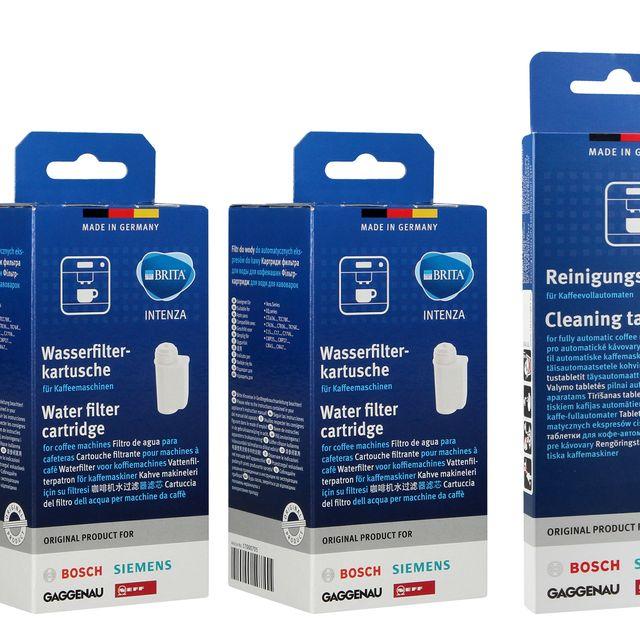 Zestaw do konserwacji ekspresu Bosch Siemens: 3x filtr Intenza TCZ7003 17000705 + tabletki czyszczące 311969 + tabletki odkamieniające 2w1 311974