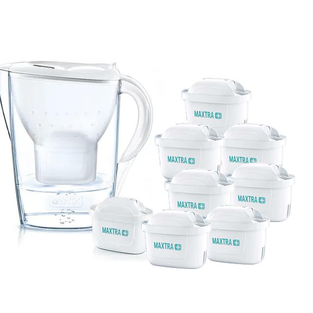 Dzbanek filtrujący Brita Marella XL +8 filtrów Maxtra Plus (biały)