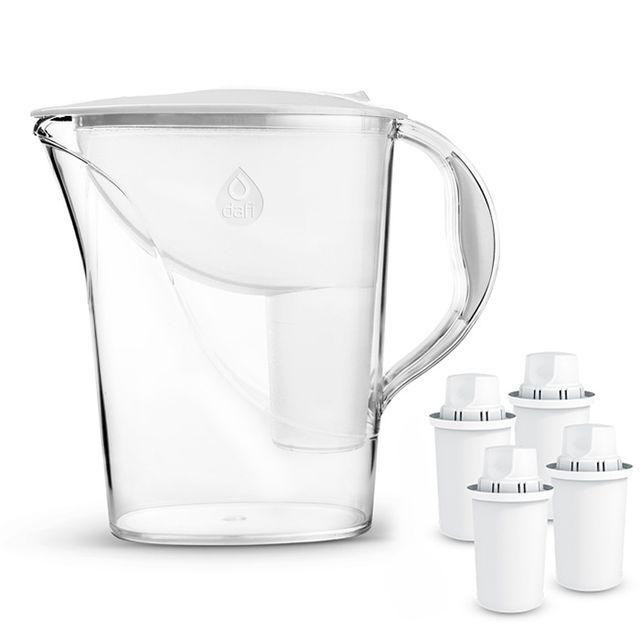 Dzbanek filtrujący Dafi Atria (biały) +4 wkłady Dafi Classic