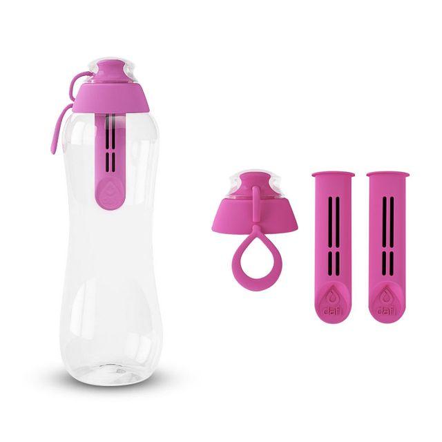 Butelka filtrująca DAFI 0,5L +3 filtry (flamingowy)