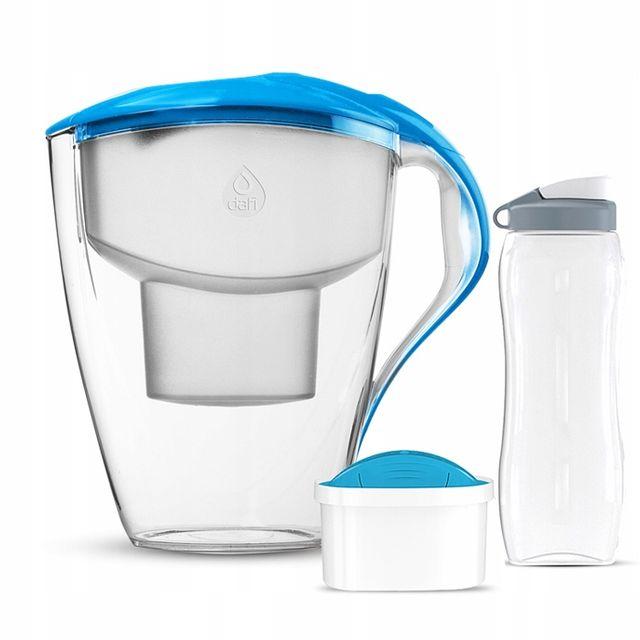 Dzbanek filtrujący Dafi Astra LED + 1 filtr Mg+ Unimax + bidon (niebieska)