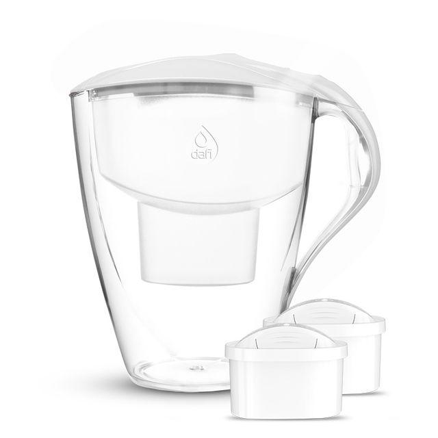 Dzbanek filtrujący Dafi Omega MI +2 filtry Unimax (biały)