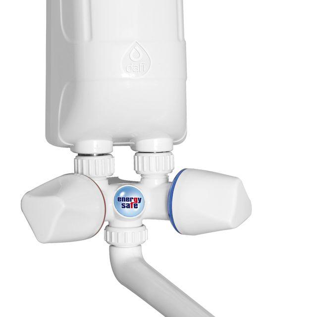Ogrzewacz wody DAFI 4,5 kW (230V) z białą baterią kranową