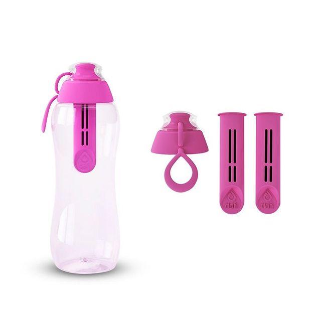 Butelka filtrująca DAFI 0,3L +3 filtry (różowa)