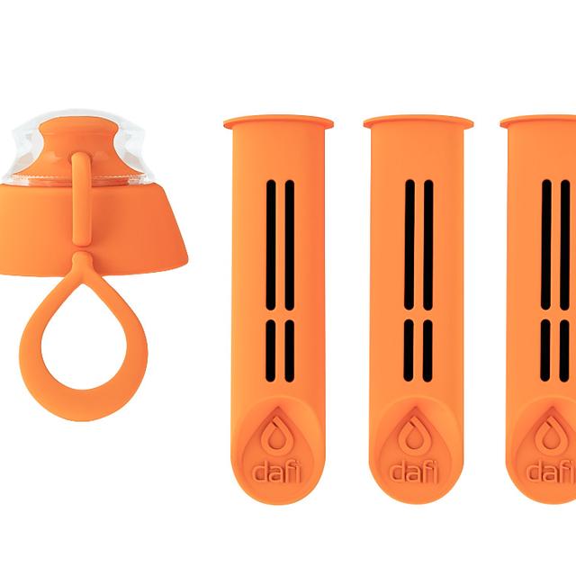 Filtr do butelki DAFI pomarańczowy (3szt. + nakrętka)