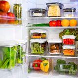Zestaw pojemników prożniowych do przechowywania żywności DAFI SET5 (biały)