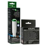 Zestaw do konserwacji ekspresu Krups (filtr Filter Logic CFL-701B + środek do czyszczenia XS9000)