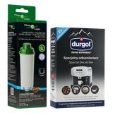 Zestaw do konserwacji ekspresu DeLonghi (filtr filtr CFL-950B + odkamieniacz Durgol 2x125ml)