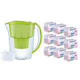 Dzbanek filtrujący Aquaphor Jasper +1 filtr B100-25 +9 filtrów Mg+ (limonka)