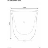 Szklaneczki termiczne do espresso Filter Logic CFL-655 (6szt.)