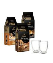 Kawa ziarnista Tchibo Sicilia / Milano / Intense 3kg+ szklanki termiczne w zestawie