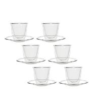 Szklaneczka termiczna do espresso ze spodkiem FilterLogic CFL-657 (6 szt.)