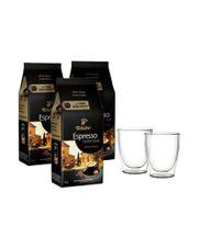 Kawa ziarnista Tchibo Sicilia 3kg + szklanki termiczne w zestawie