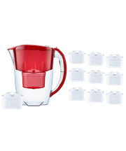 Dzbanek filtrujący Aquaphor Jasper +10 filtrów B100-25 (czerwony)