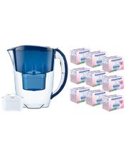 Dzbanek filtrujący Aquaphor Jasper +1 filtr B100-25 +9 filtrów Mg+ (granatowy)