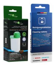 Zestaw do konserwacji ekspresu Bosch Siemens (Filter Logic CFL-901B + tabletki czyszczące Bosch 311969)