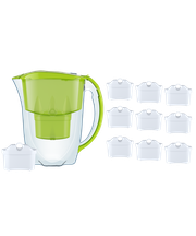 Dzbanek filtrujący Aquaphor Jasper +10 filtrów B100-25 (limonka)